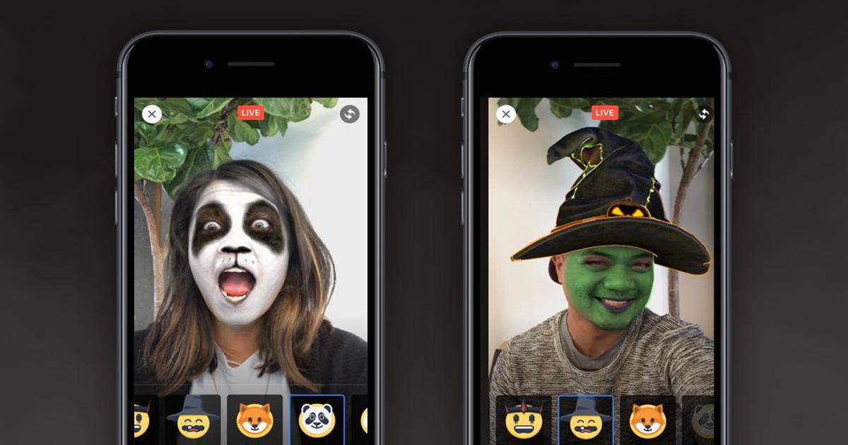 Facebook Live: le maschere per festeggiare Halloween