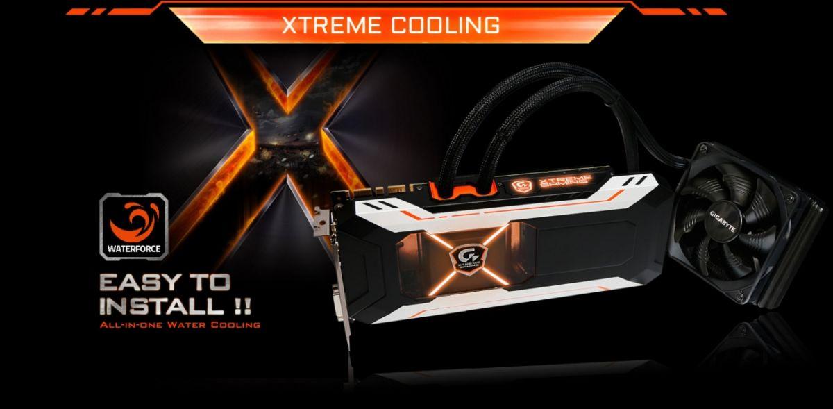 Gigabyte con la sua nuova GPU GTX 1080 raffreddata a liquido