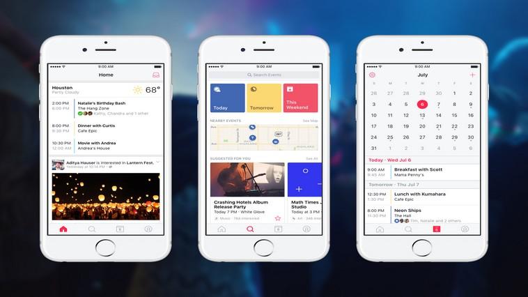 Facebook Events: l'app che gestisce gli eventi