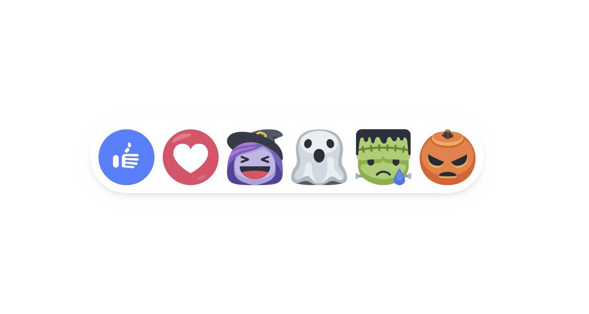 Speciale Halloween: nuove reazioni di Facebook