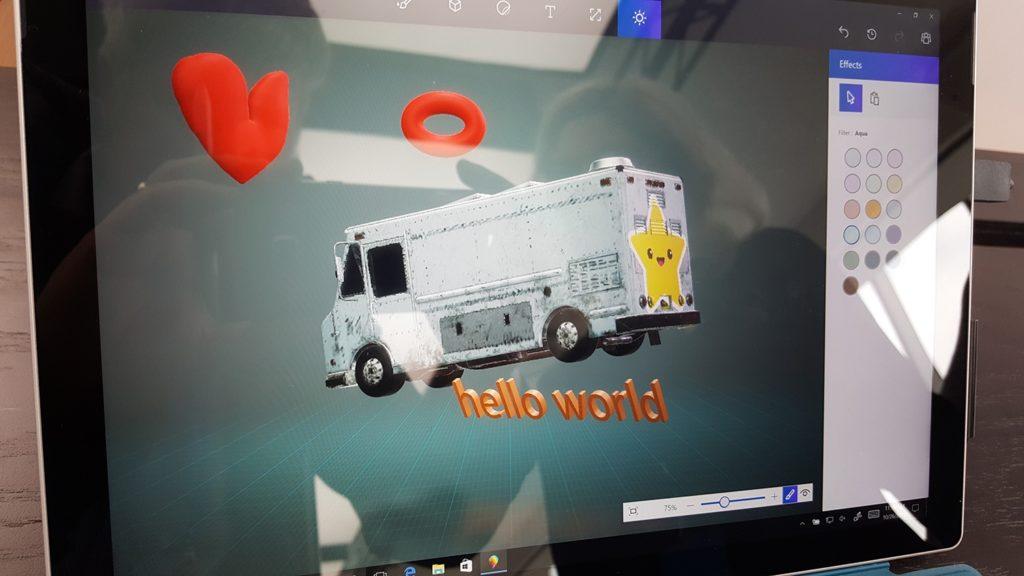 Schermata di Paint 3D