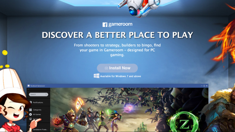 Facebook Gameroom: il futuro del gaming per ora in versione beta
