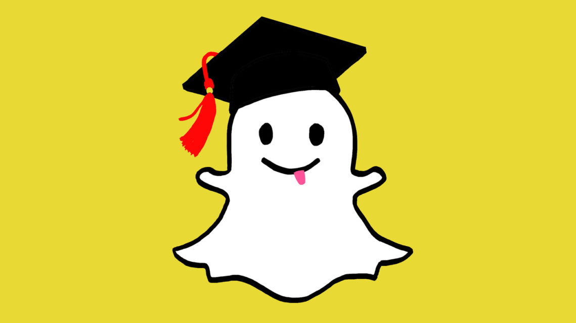 Snapchat as a study guide.