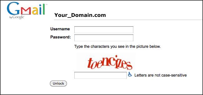 Google Acount con CAPTCHA