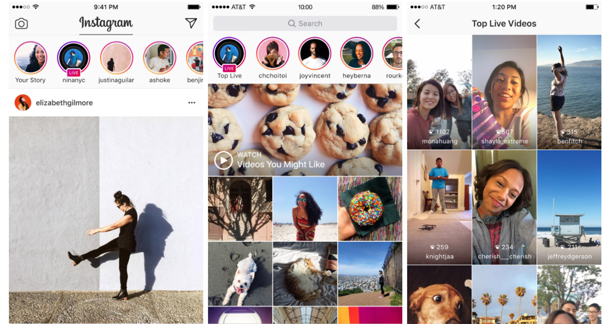 Instagram Video, ora in Italia disponibli le dirette Live