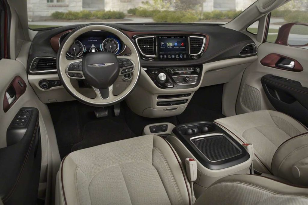 Interni di Chrysler Pacifica