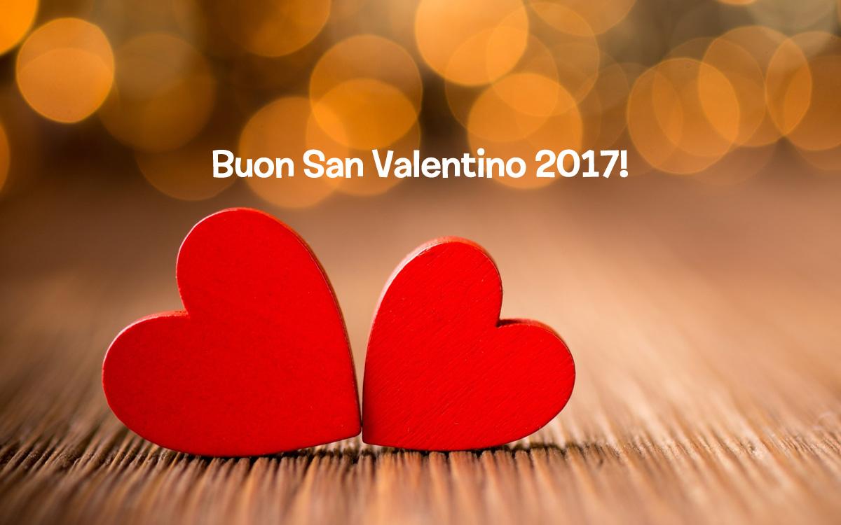 cartolina di auguri San Valentino 2017