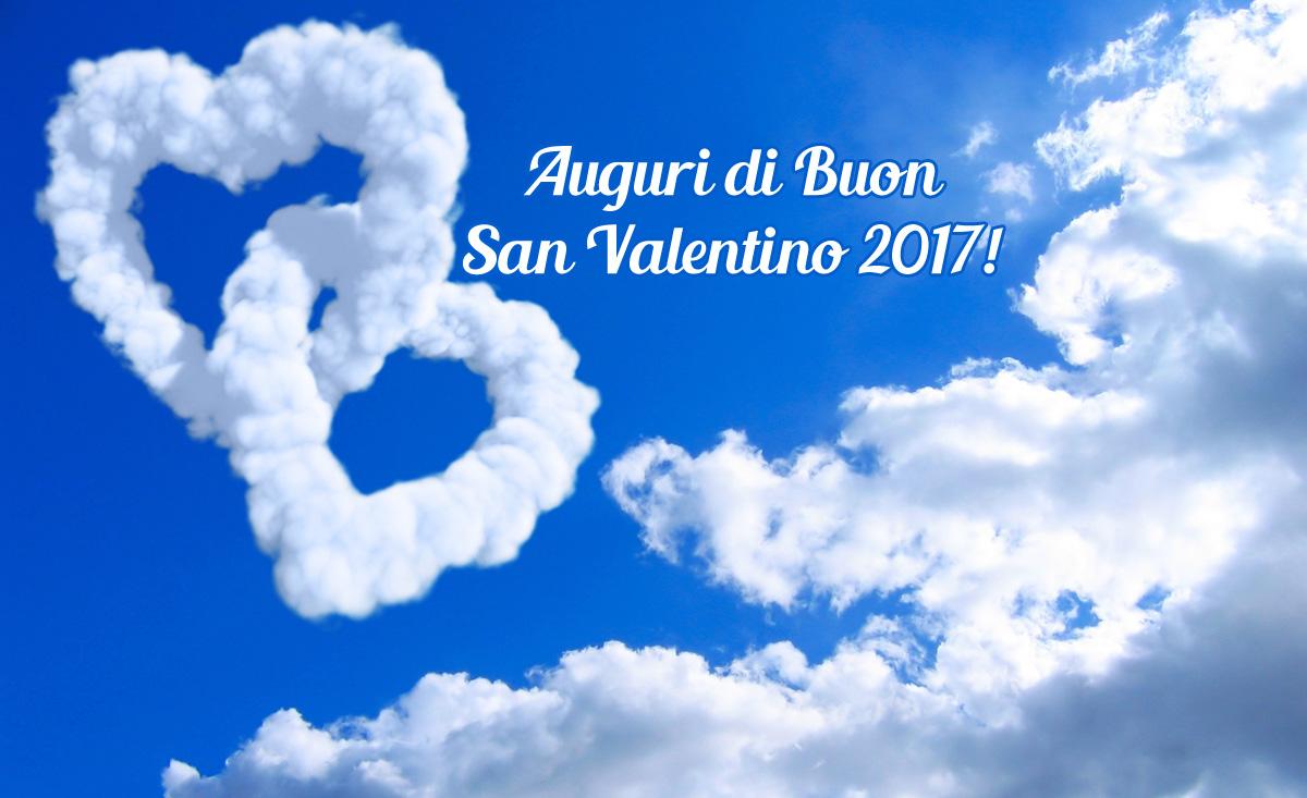auguri san valentino 2017 nuvole con cuori