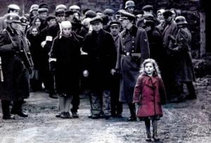 La bambina con il cappotto rosso - Schindler's List