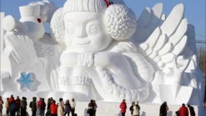 Sculture di ghiaccio in Cina