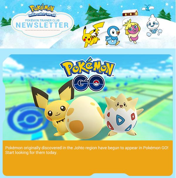Pokémon GO aggiornamento pokemon regione Johto