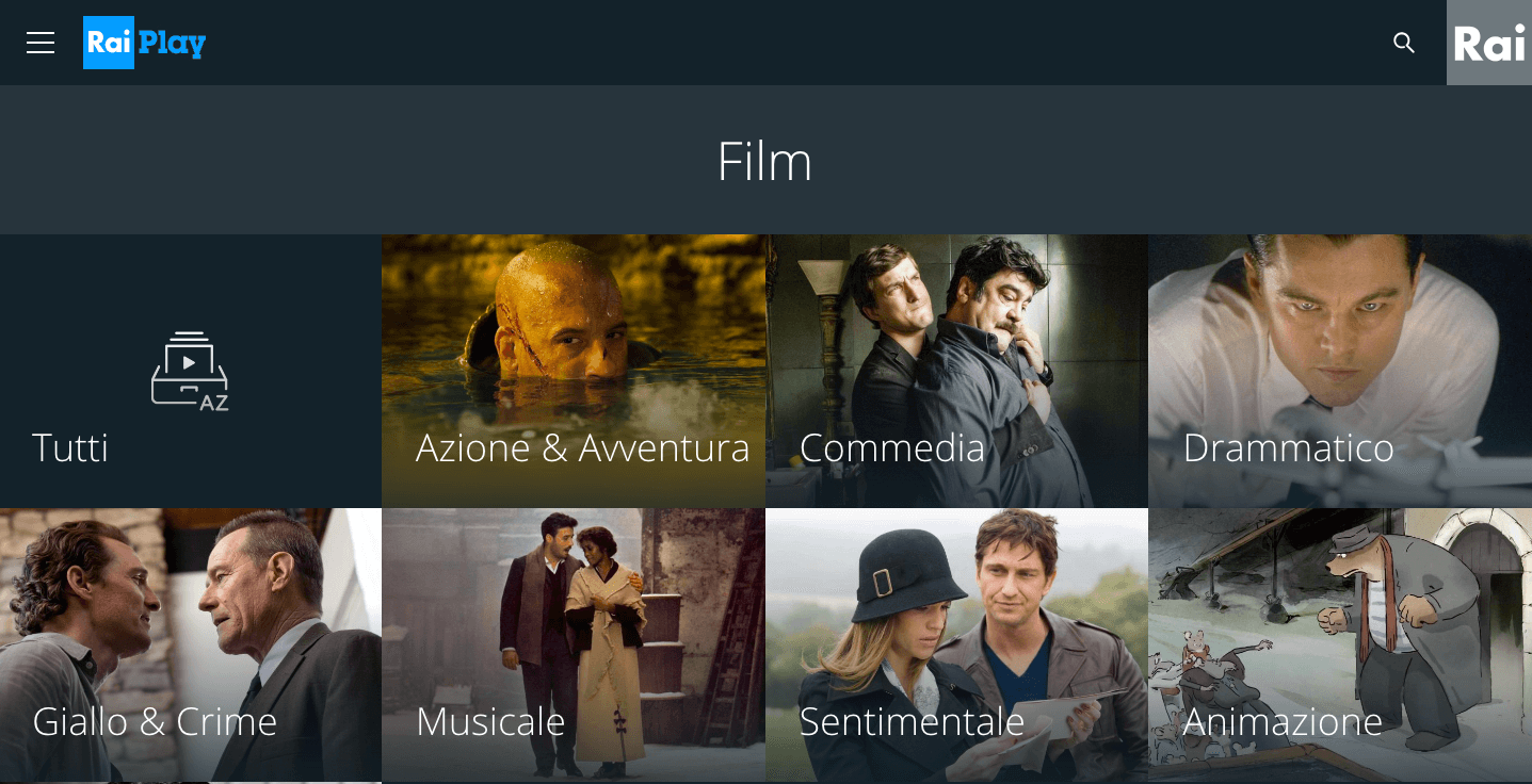 Film Streaming 2017 RaiPlay