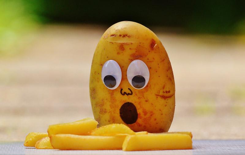 Foto divertente 2017 da inviare patata stupita