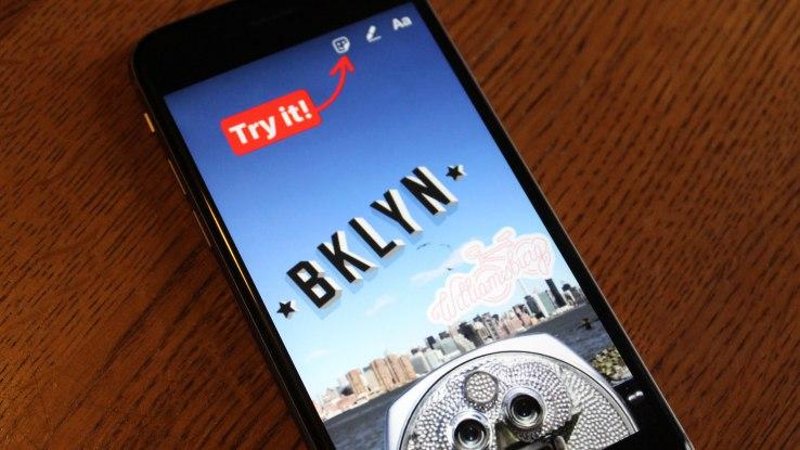 digital marketing trends - geostickers instagram