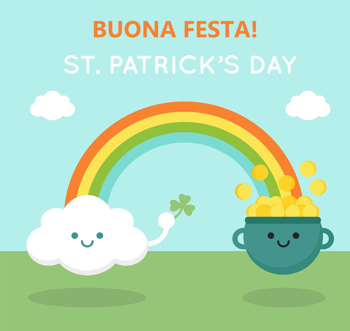 Auguri Festa San Patrizio 2017 arcobaleno