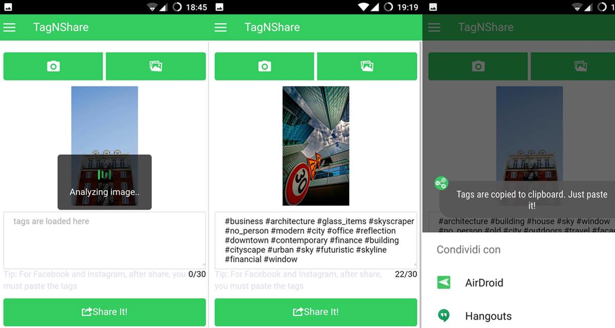 TagNShare: l'app che aggiunge hashtag per te