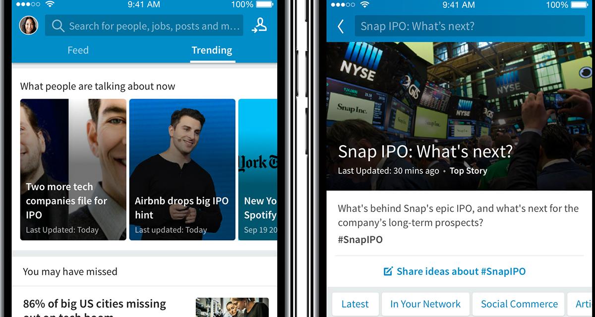 Linkedin Trending Storylines: arriva il nuovo servizio di notizie
