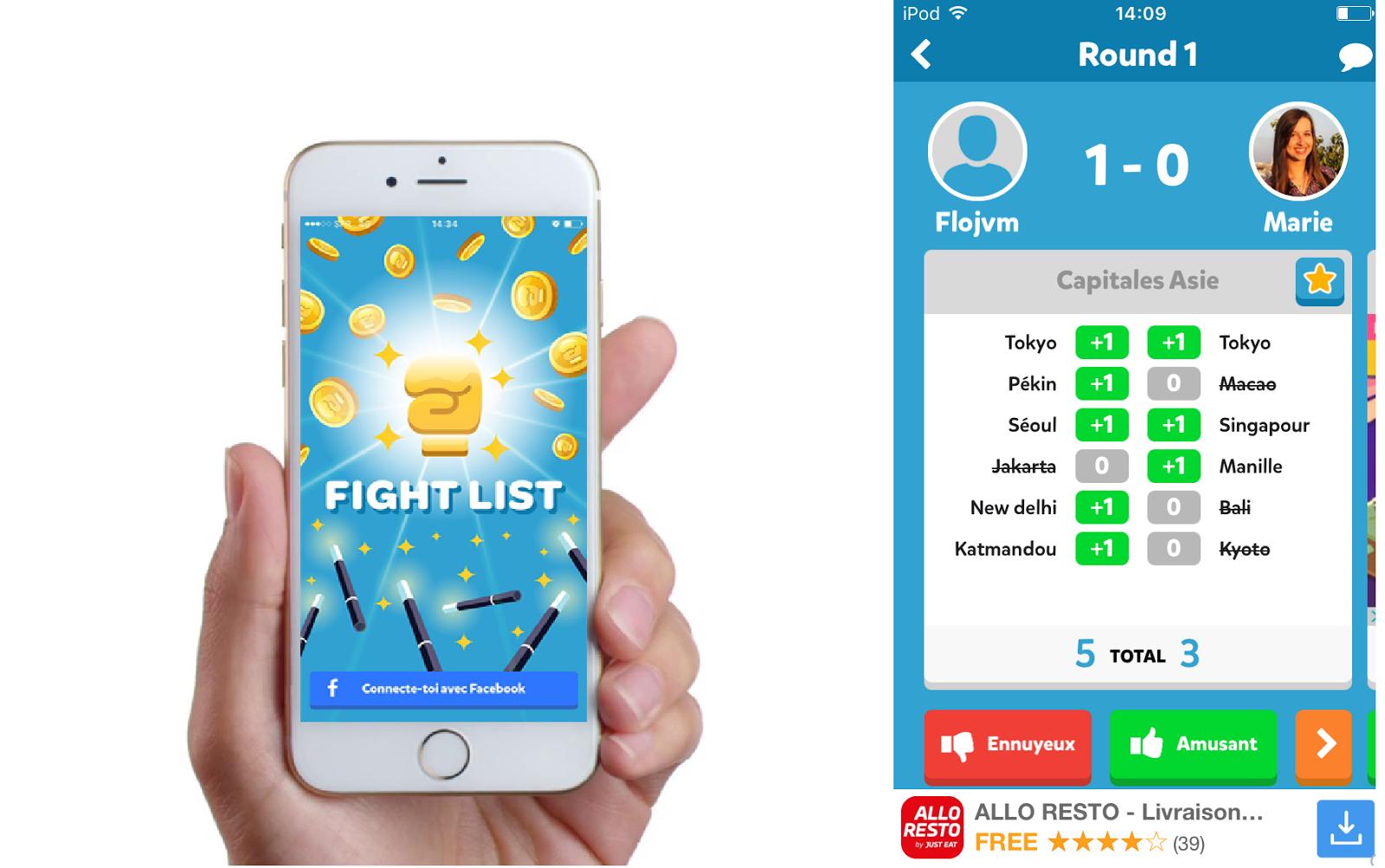 Fight List App, l'applicazione gioco per sfidarsi a colpi di conoscenza