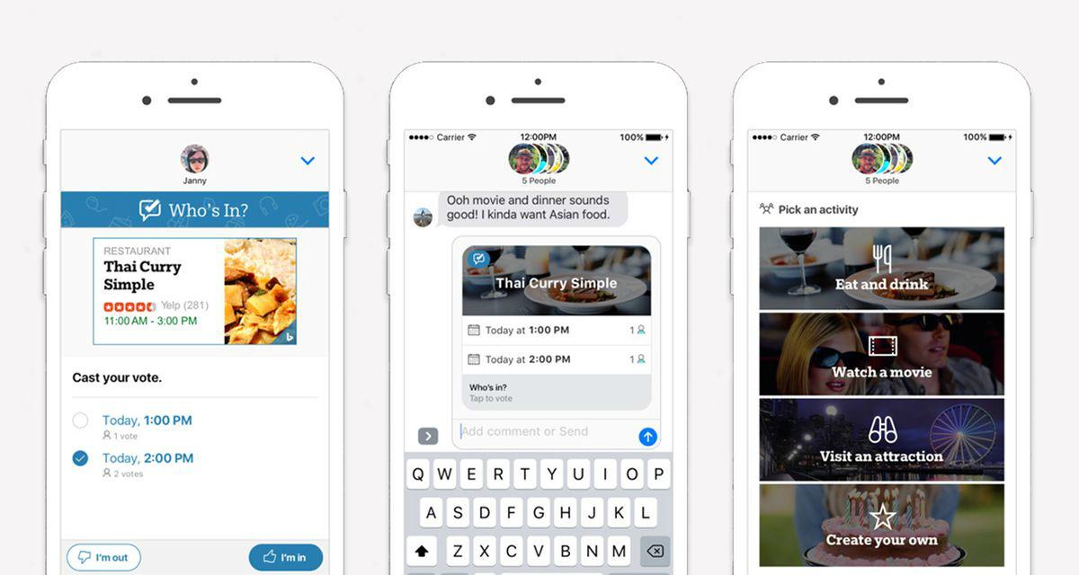 Microsoft lancia Who's In, l'app IMessage per organizzare eventi tra amici