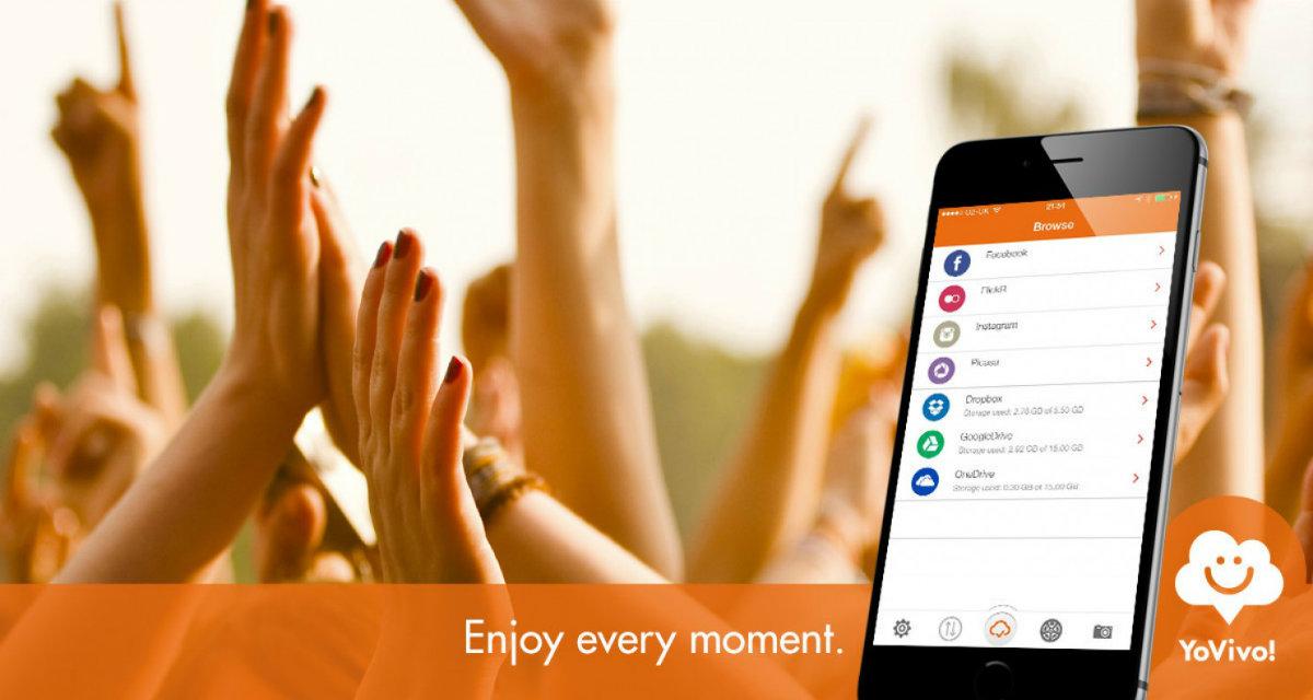 YoVivo, l'applicazione iOS per raggruppare foto dai servizi cloud