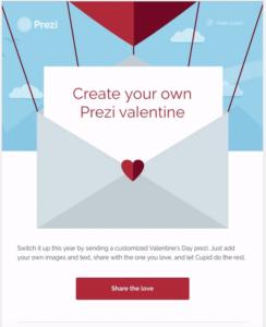 Prezi email Valentine