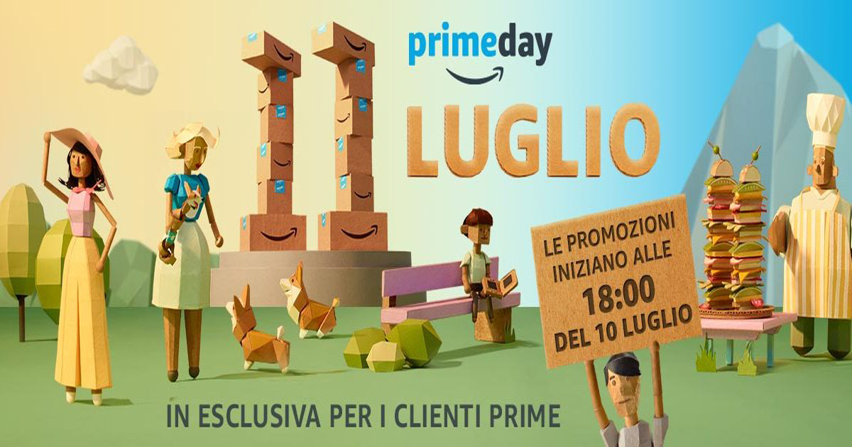 Amazon Prime Day: 30 ore di sconti da oggi 10 luglio