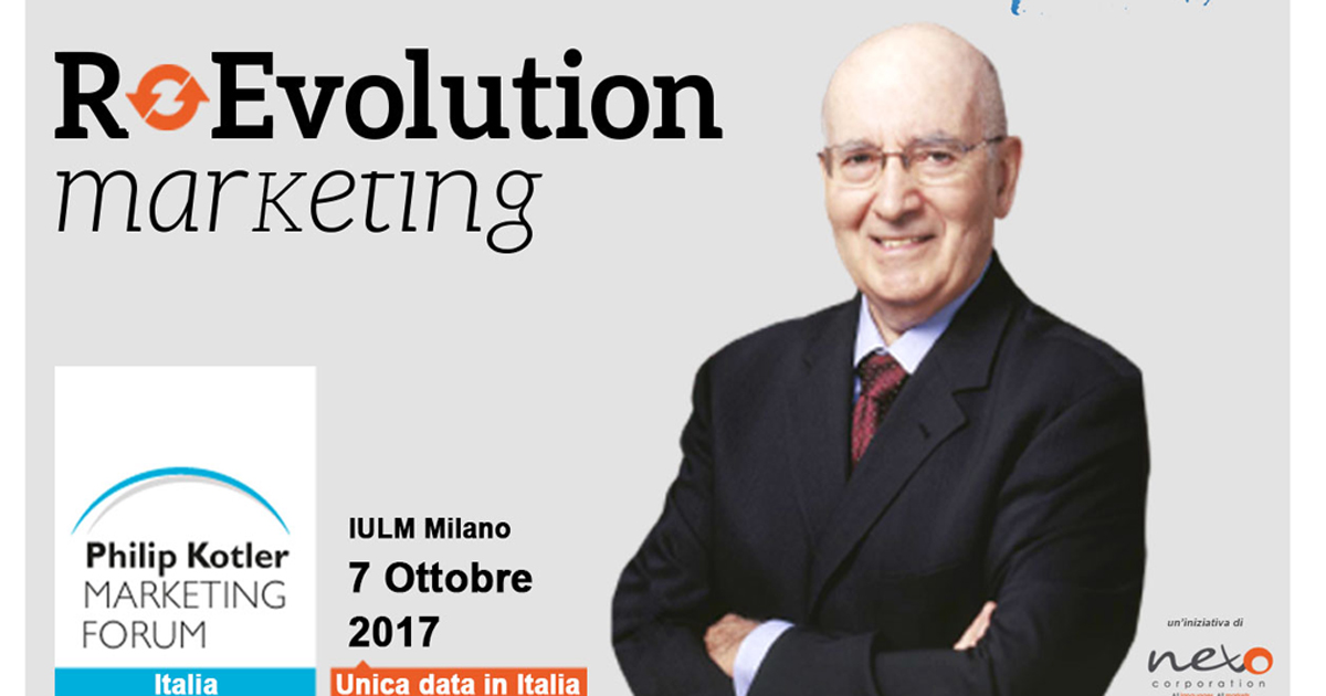 Philip Kotler Marketing Forum 2017: il guru del marketing torna in Italia