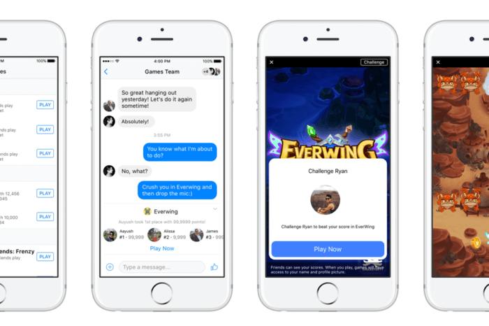 Facebook Instant Game Messenger: in arrivo la pubblicità