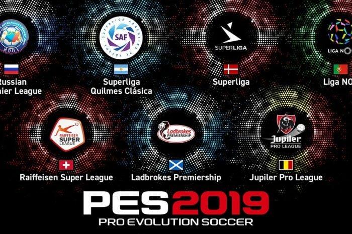 PES 2019: saranno presenti sette nuovi campionati di calcio