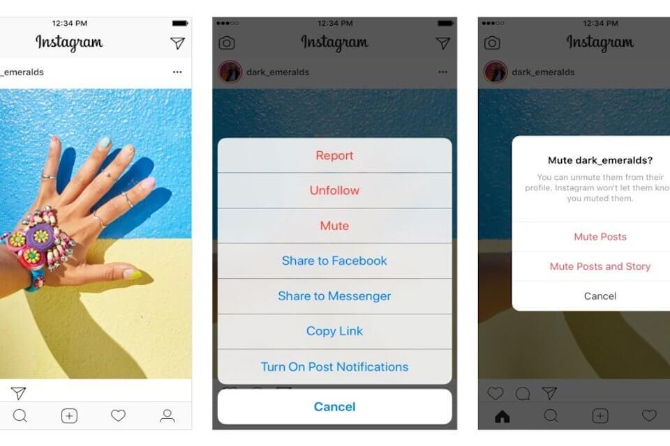 Instagram silenziare i contatti
