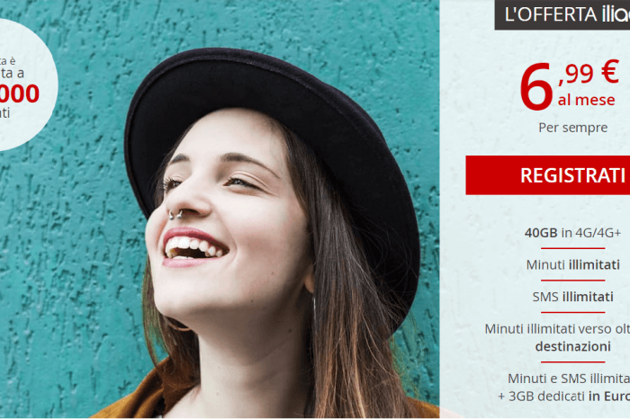 A sorpresa Iliad: 40 gigabyte a 6,99 euro
